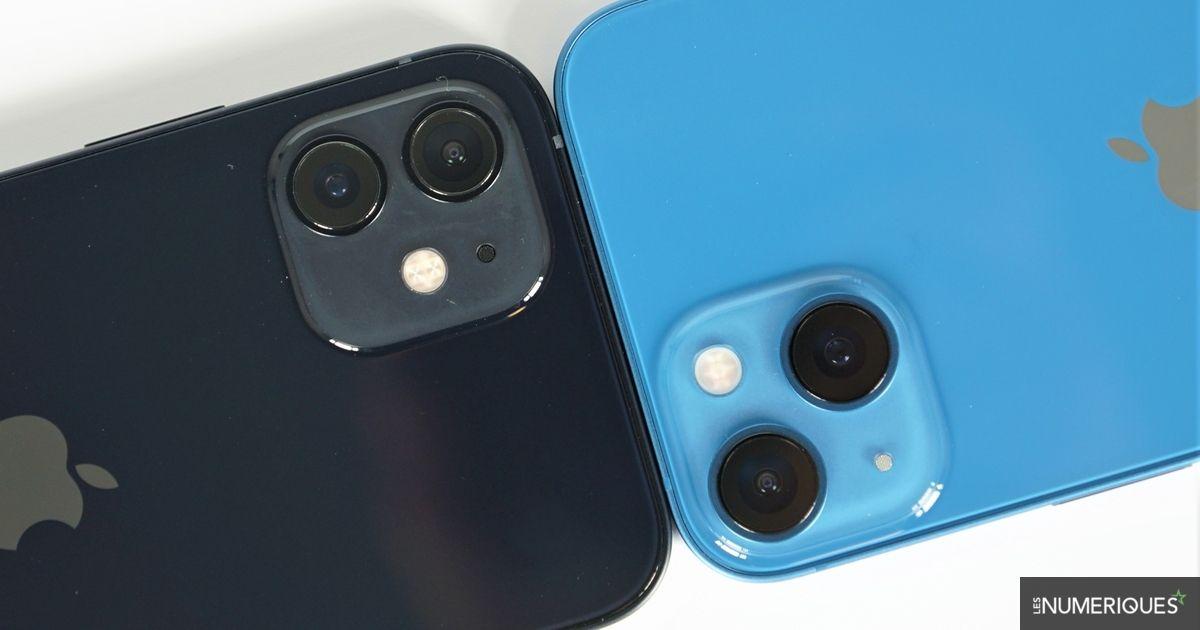 Comparatif Duel : Apple iPhone 12 vs iPhone 13 - Les Numériques