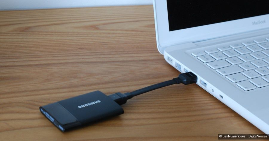 Samsung T1 SSD portable 250GB insitu