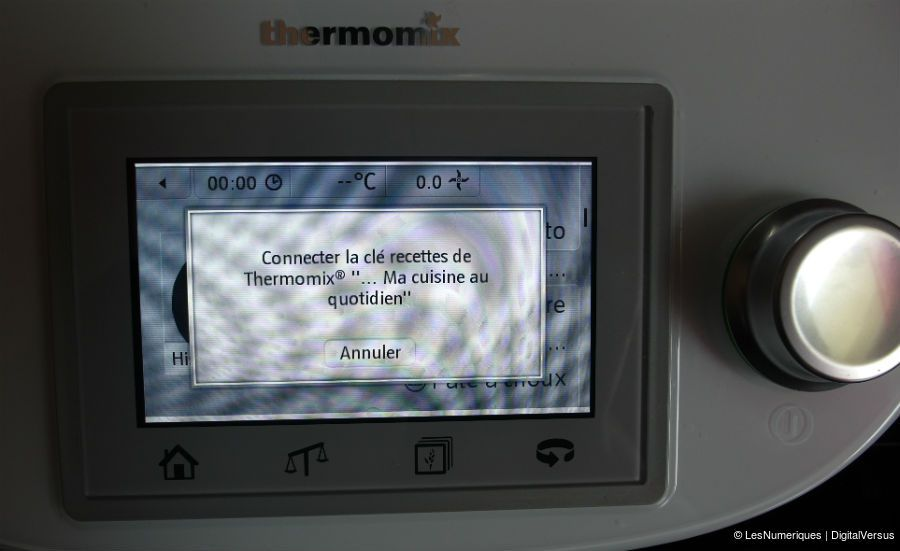 ThermomixTM5 avertissement cle recette