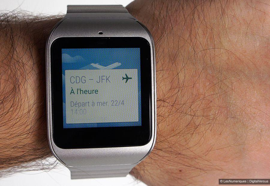 sony smartwatch 3 acier test prix et fiche technique montre connect e les num riques. Black Bedroom Furniture Sets. Home Design Ideas