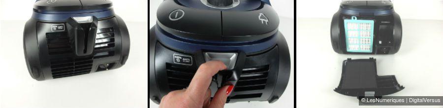 PhilipsPerformerParquet acces filtre hepa