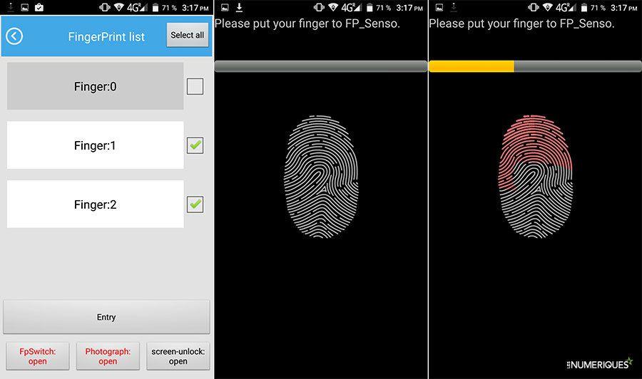 Test doogee f5 lecteur empreintes digitales