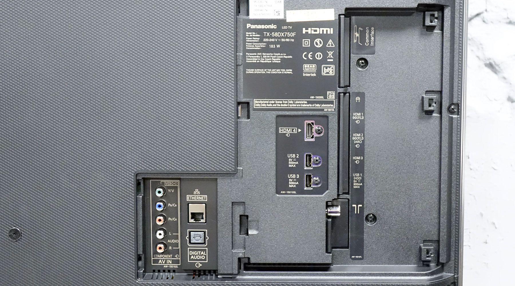 Panasonic TX-58DX750F : test, prix et fiche technique