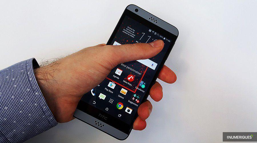 Test HTC Desire 530 Pouces