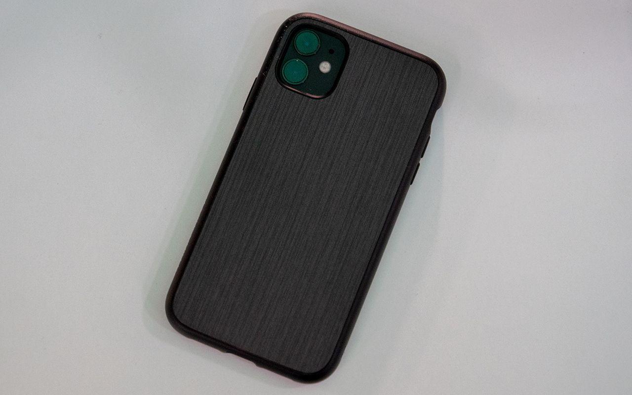 Coque iPhone 11 Pro Max Antichoc SolidSuit Rhinoshield Noir Design Métal Brossé