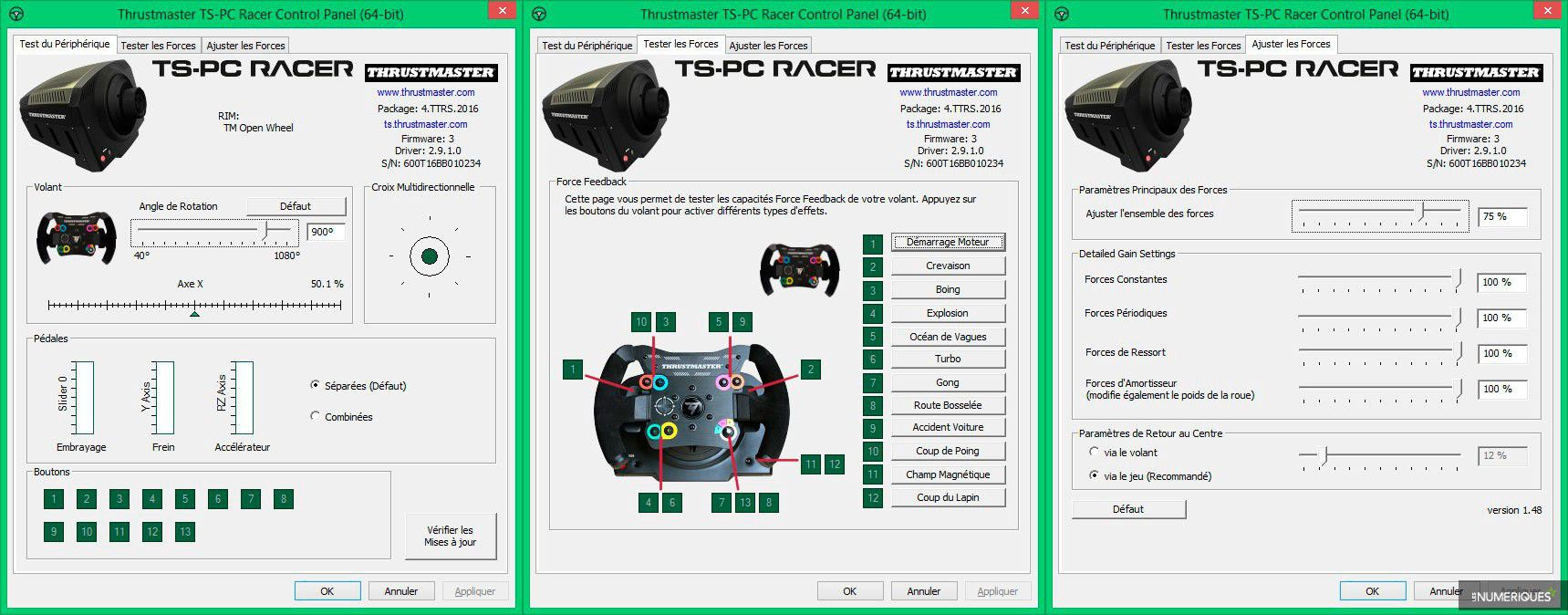 Thrustmaster Ts Pc Racer Test Complet Volant Les Numriques Xw New Control Panel