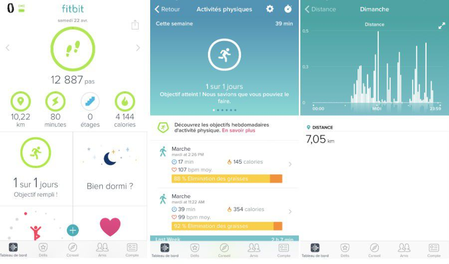 Test Fitbit Alta HR appli capture 1