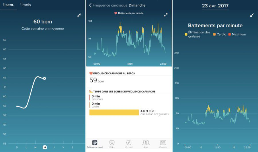 Test Fitbit Alta HR appli capture 2
