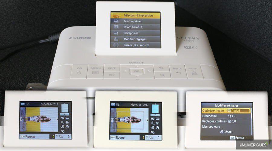 Canon selphy cp1200 test complet imprimante photo for Test ecran retouche photo