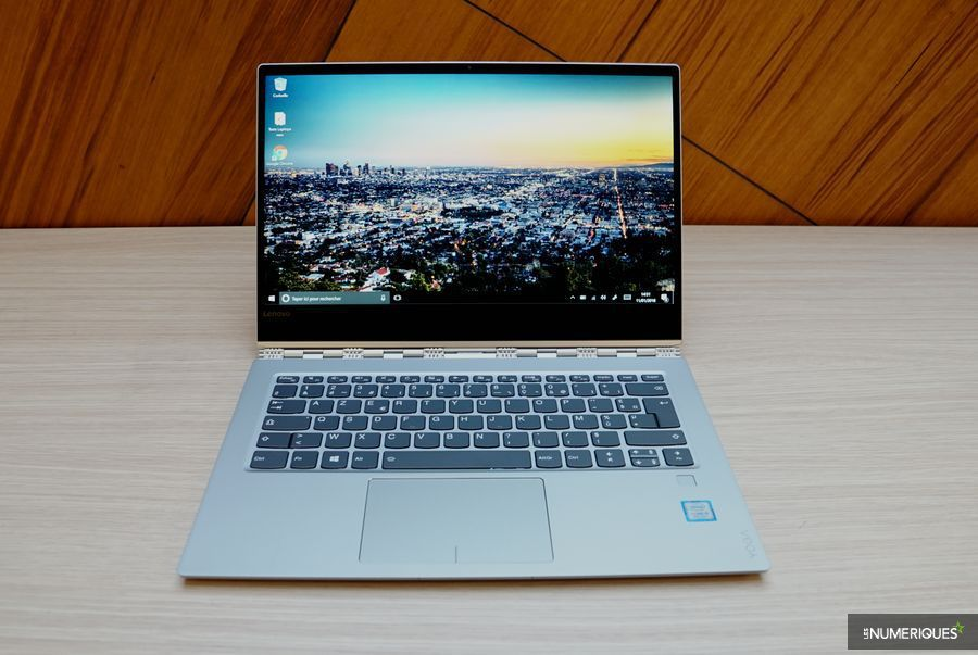 Test PC ultraportable Lenovo Yoga 920, ouvert