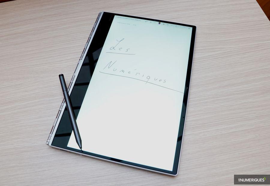 Test PC ultraportable Lenovo Yoga 920, écran en mode tablette et stylet