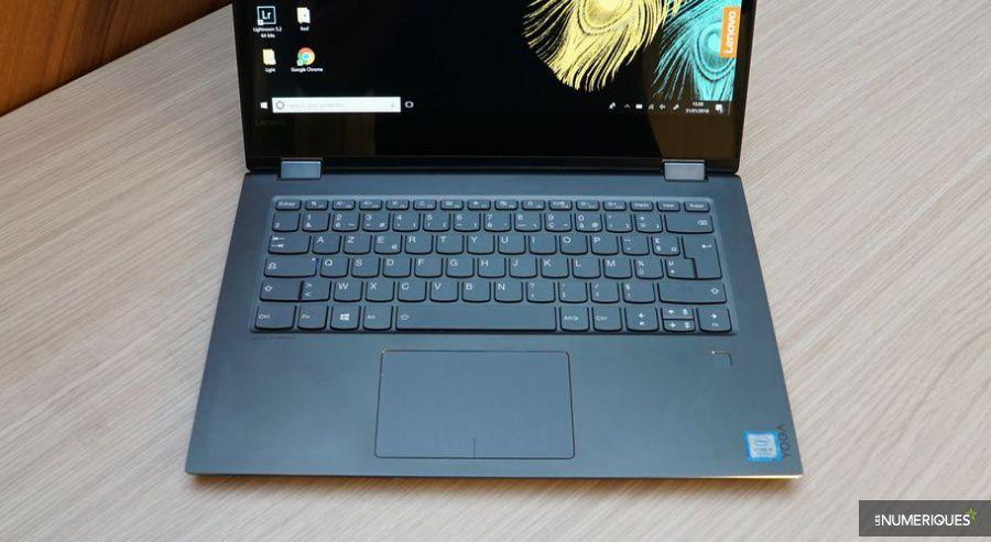 Test du Lenovo Yoga 520, clavier et pavé tactile