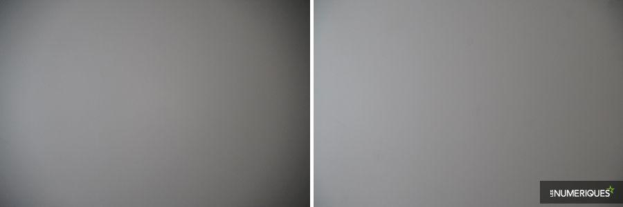 Test du zoom Sony E 18-135mm f/3,5-5,6 OSS monté sur un APN Sony Alpha 6500 (A6500), vignettage