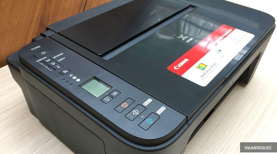 Test de l'imprimante couleur multifonction jet d'encre Canon Pixma TS3150, panneau de commande