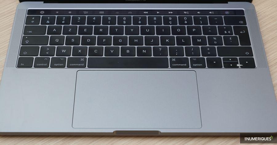 MacBook Pro 13 pouces 2017 3,1 GHz, clavier et trackpad