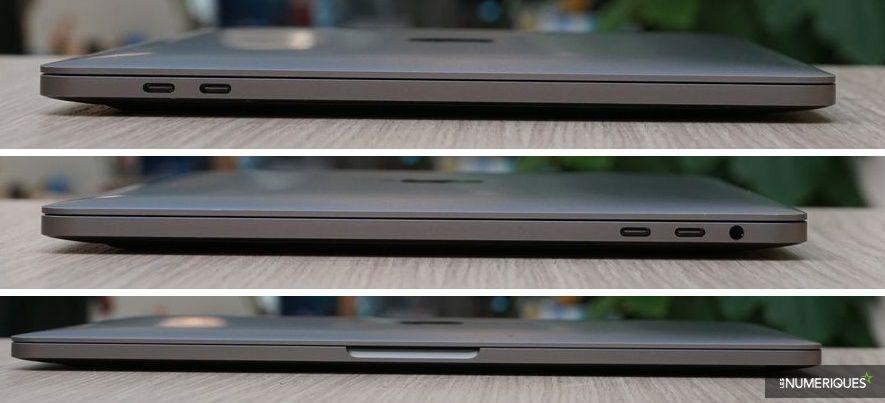 MacBook Pro 13 pouces 2017 3,1 GHz, tranches et connectique