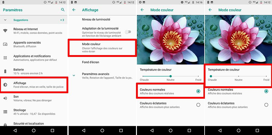 Moto G6 Play - Réglages couleurs.jpg