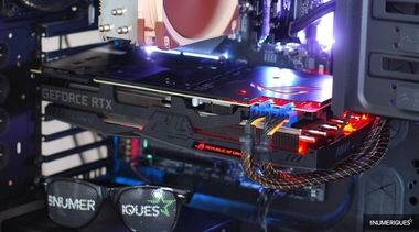 carte vidéo 2x Displayport 2x HDMI USB-C NEUF ASUS GeForce RTX 2080 Ti ROG Strix