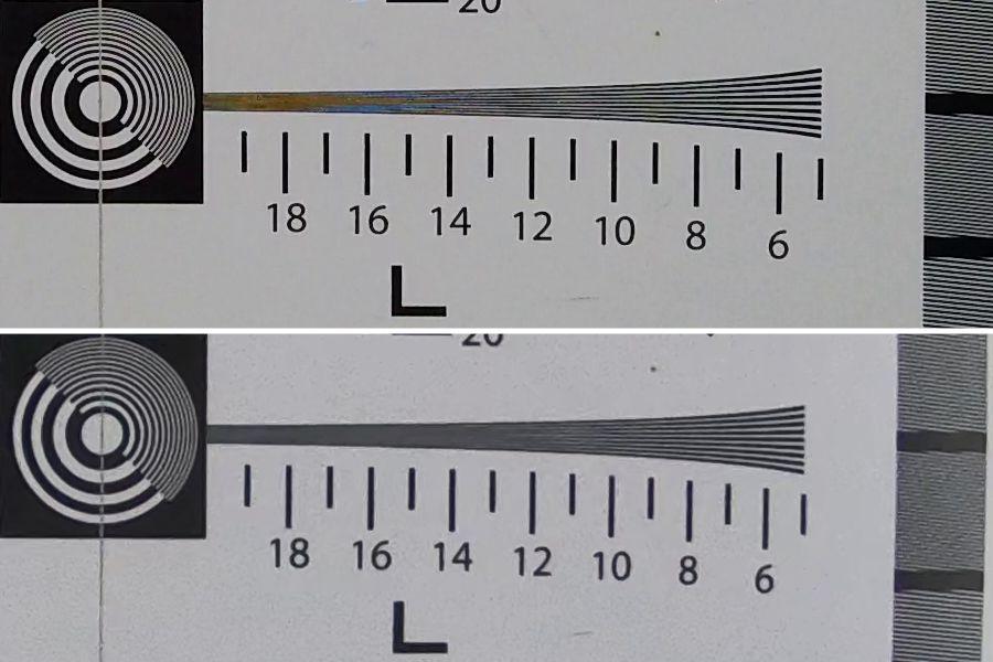 Comparaison – Osmo 4K en haut - GoPro 4K en bas (avec ajustement taille pour la GoPro) v2.jpg