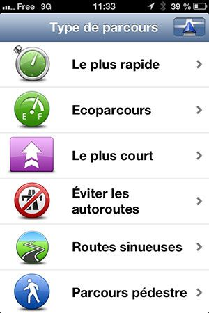 TomTom Navigation iPhone Menu 01