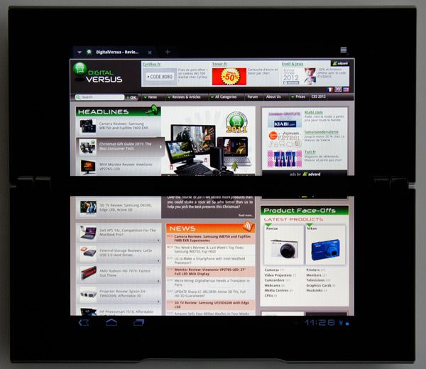 sony tablet p web