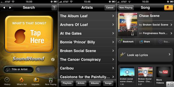 Soundhound interface