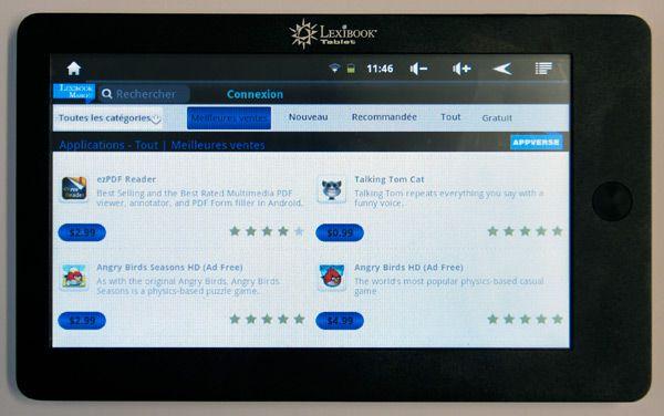 lexibook tablet market