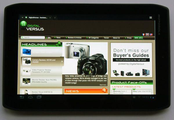 Moto xoom2 web