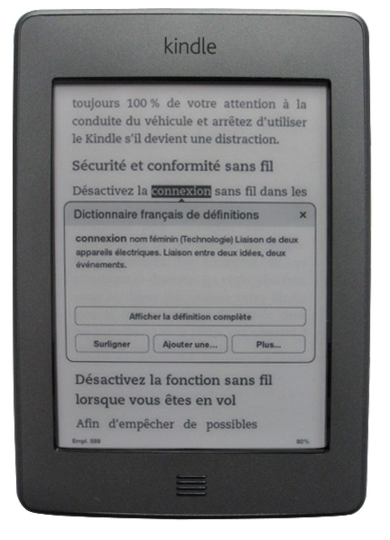 Format ebook, Version, Type, Date, Taille.