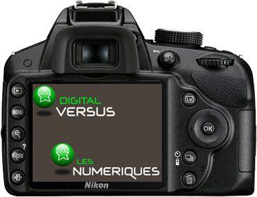 Nikon D3200 test review dos de l'appareil
