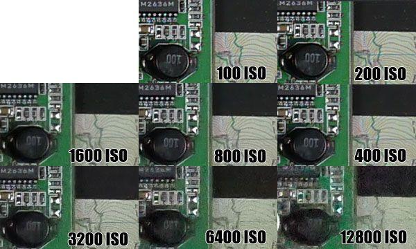 Panasonic G5 montee ISO