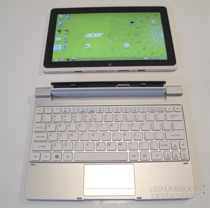 Acer w510 clavier et tablette