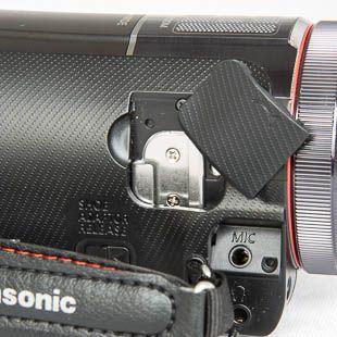 Panasonic X920 test détail griffe porte accessoire