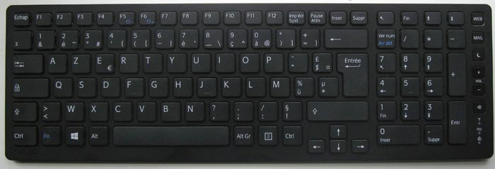 Tap 20 clavier