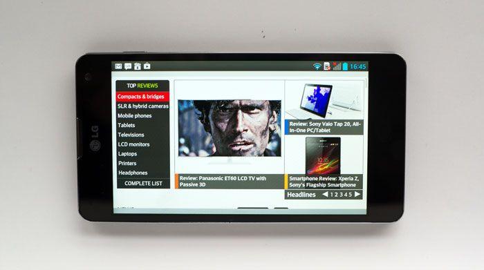 LG Optimus G web