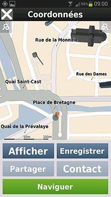 Mappy GPS Free Menu 06