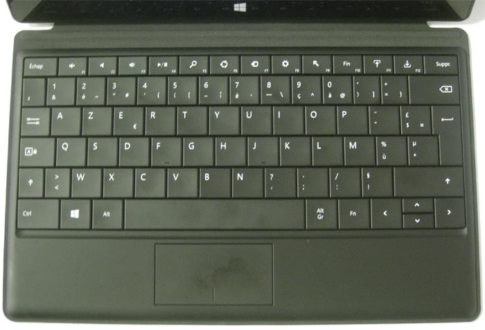 Surface clavier touch cover