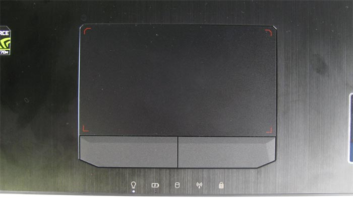 G750 touchpad