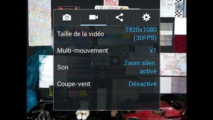 S4Z reglages video