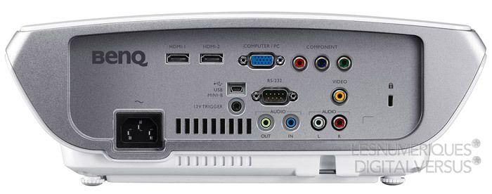 BenQ W1300 connectique