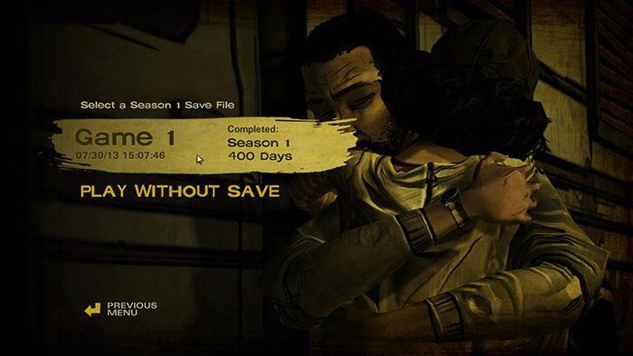 The Walking Dead Season 2 Episode 1 Save