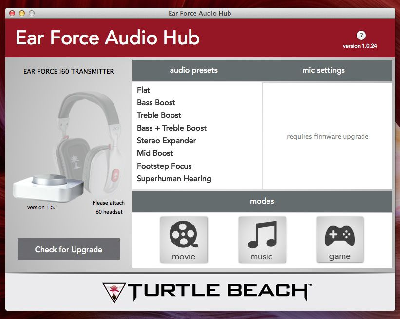 App Turtle Beach Ear Force Audio Hub