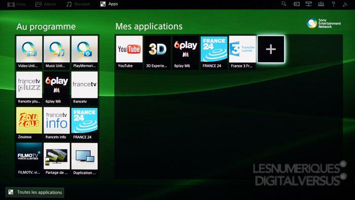 Sony 55W955 applications