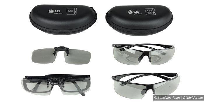 LG 55EA970V lunettes