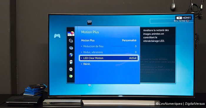 Samsung HU8500 UHD TV led clear motion