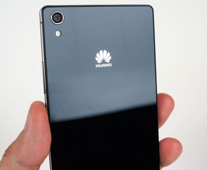 Huawei P7 bleu dos