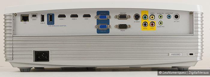 Acer H9505BD connectique