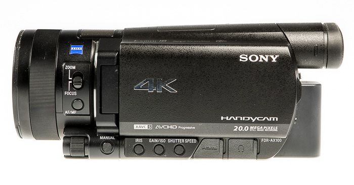 Sony FDR-AX00 test review ergonomie