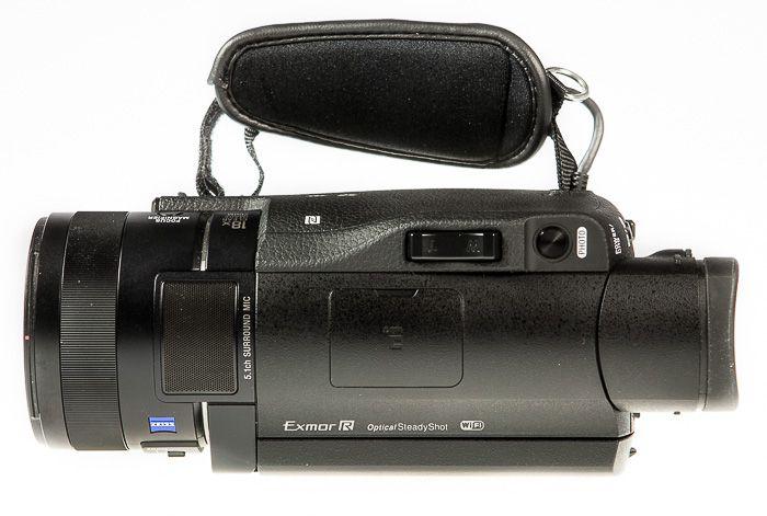 Sony FDR-AX100 test review vue de dessus