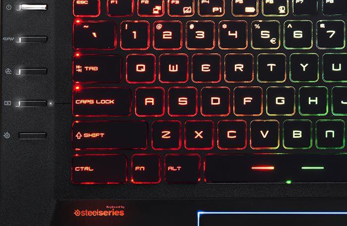 MSIGT72 clavier détails